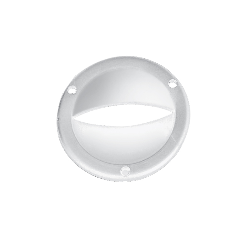 Ventilation Clam Shell Cover, Round, Ø87mm, White