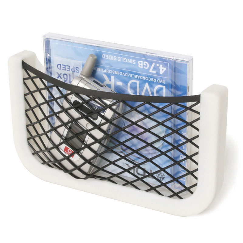 Case w/  net and plastic frame,'Store-All',  white